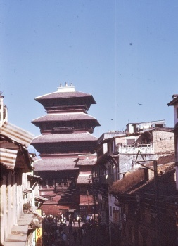 Kathmandu : Vue de Monumental Lodge