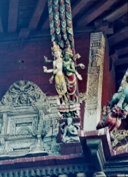 Kathmandu Temple angle palais Hanuman
