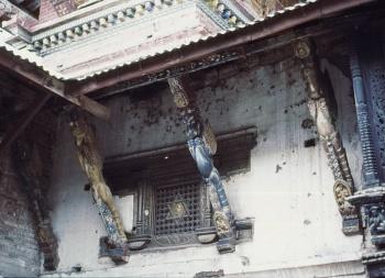 Temple sur le chemin de Swayambunath